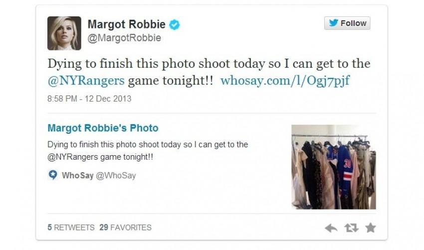Margot Robbie o hokeju na ledu