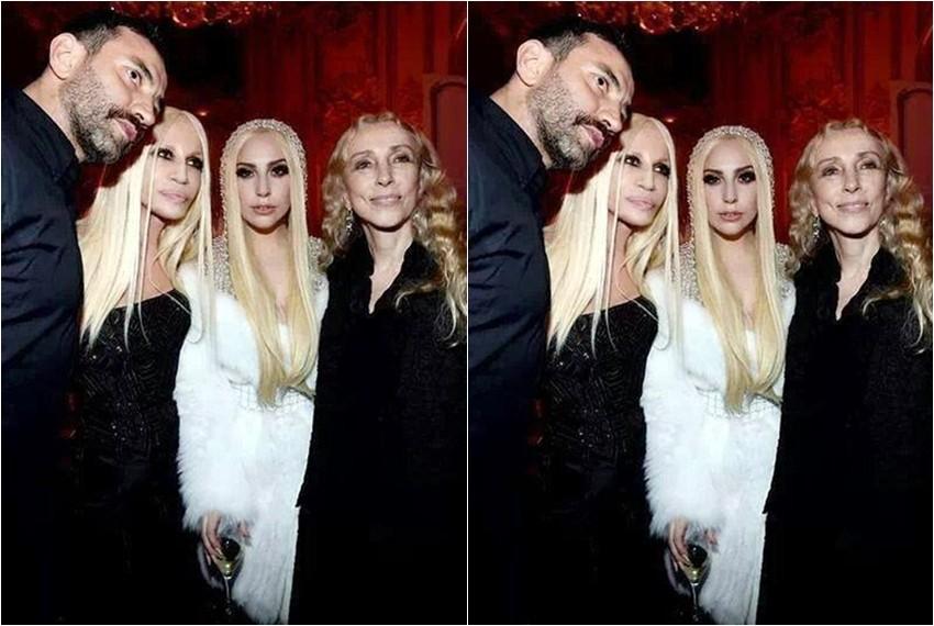 Lady Gaga na večeri u Versace komadu