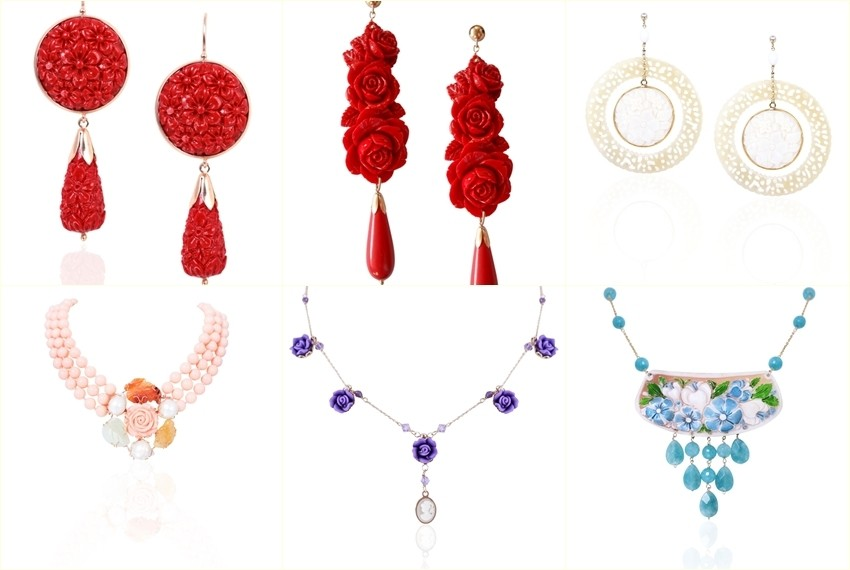 Nakit Zlatarne Zaks za Valentinovo - ogrlica prstem naušnica za žene
