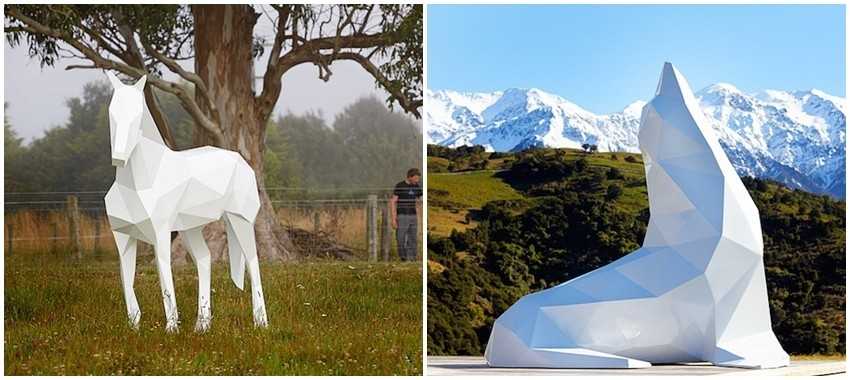 Pogledajte bijele životinjske skulpture Bena Fostera