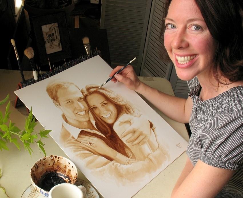 Slikanje s kavom, Karen Eland