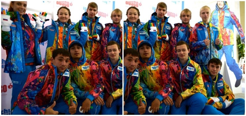 ruski volonteri i osoblje u Sochiju