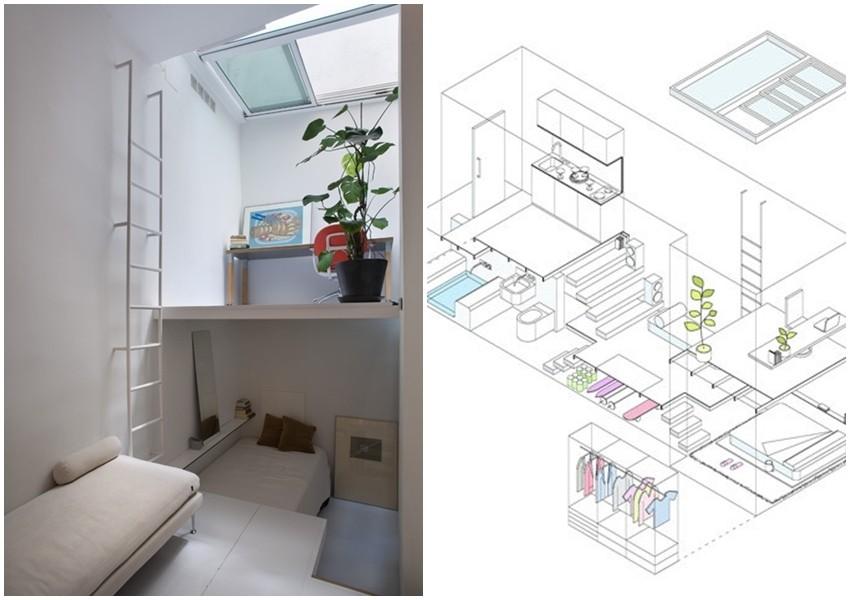 Funkcionalan bijeli stan u samo 18.5 kvadrata