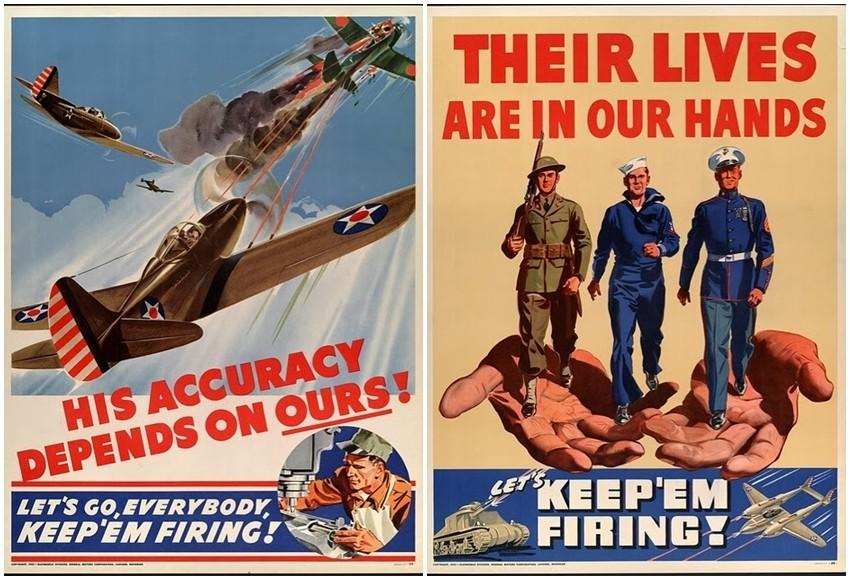 Vintage američki propagandni plakati iz Drugog svjetskog rata