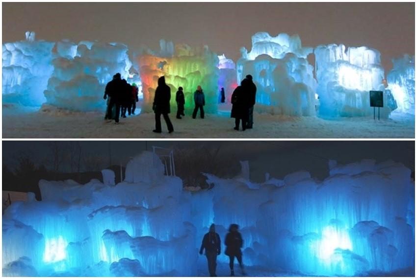 Ledeni dvorci se nalaze u saveznim američkim državama Coloradu, Utahu i New Hampshireu