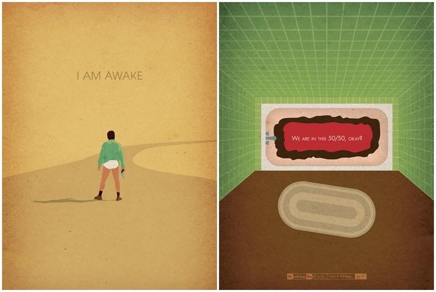Dizajnerski plakati epizoda Breaking Bad serije