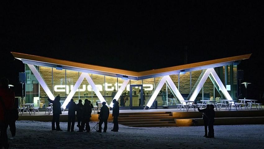 Audi Quattro ski bar, St. Moritz