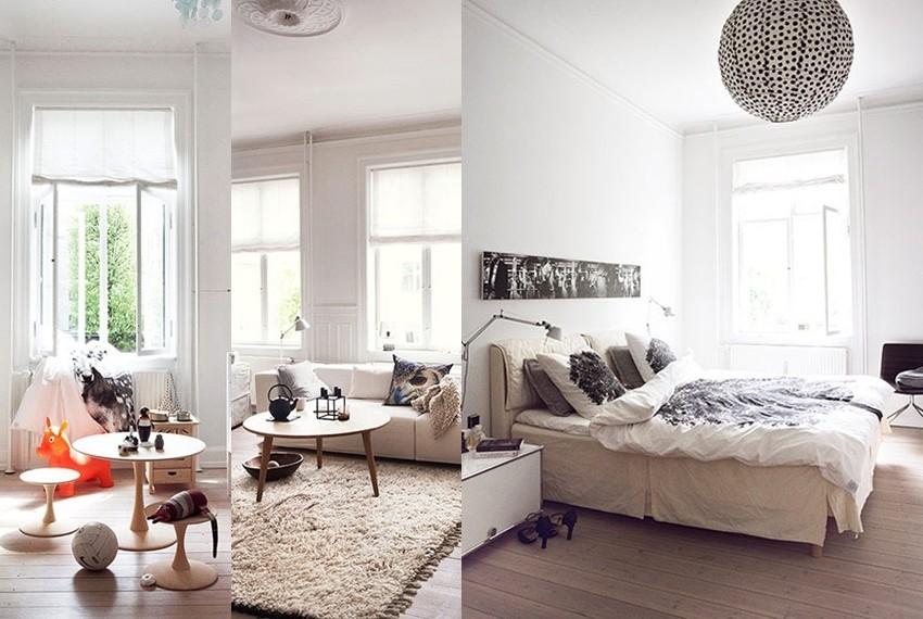 Za stan je karakterističan tzv. skandinavski stil uređenja