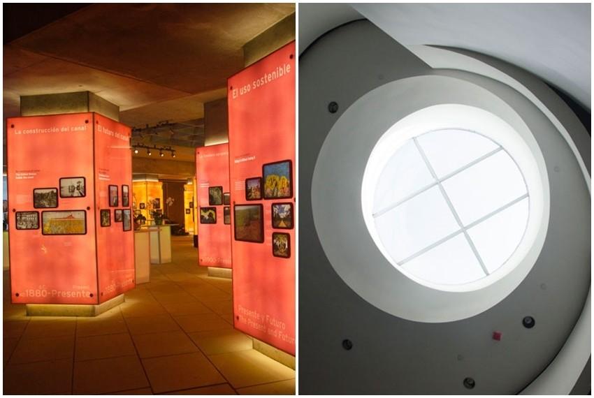 Unutrašnjost muzeja je isto uređena u modernom stilu