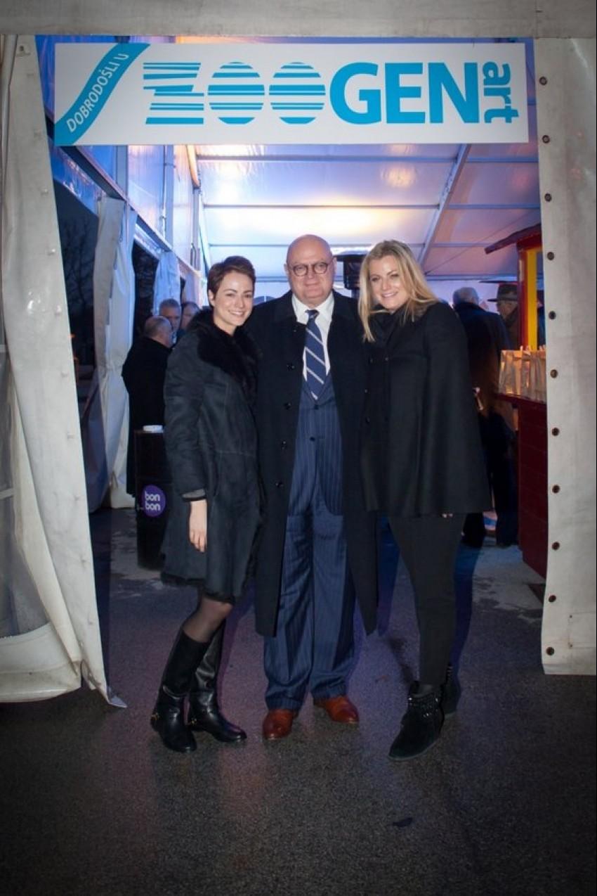 odvjetnik i većinski vlasnik Genere Marijan Hanžeković s kćerima Dorom i Anom