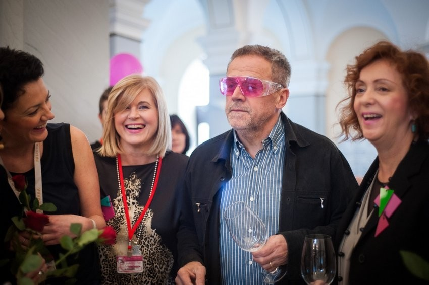 Alis Pečarić, Milan Bandić i Sanja Muzaferija na Pink day-u