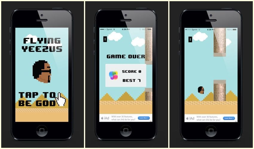 Biste li igrali Kanye Westov Flappy bird?