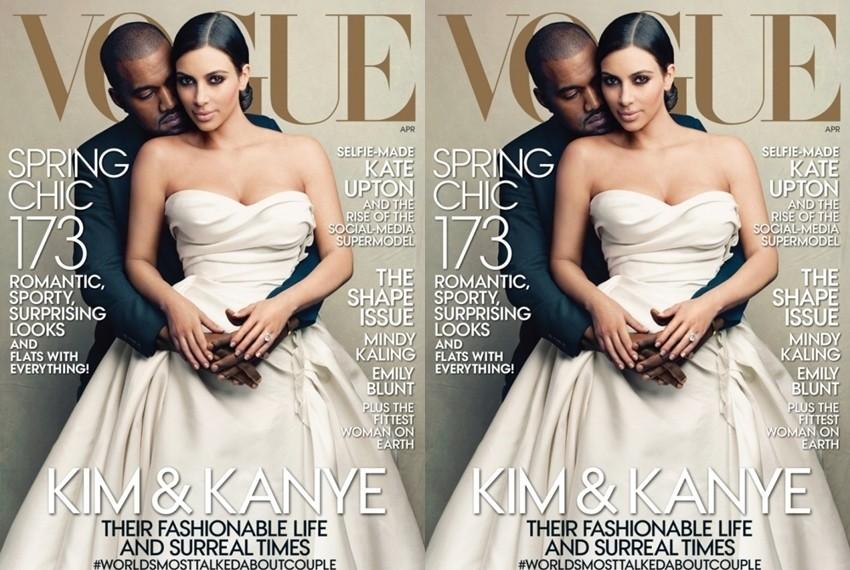 Kim i Kanye na naslovnici Voguea