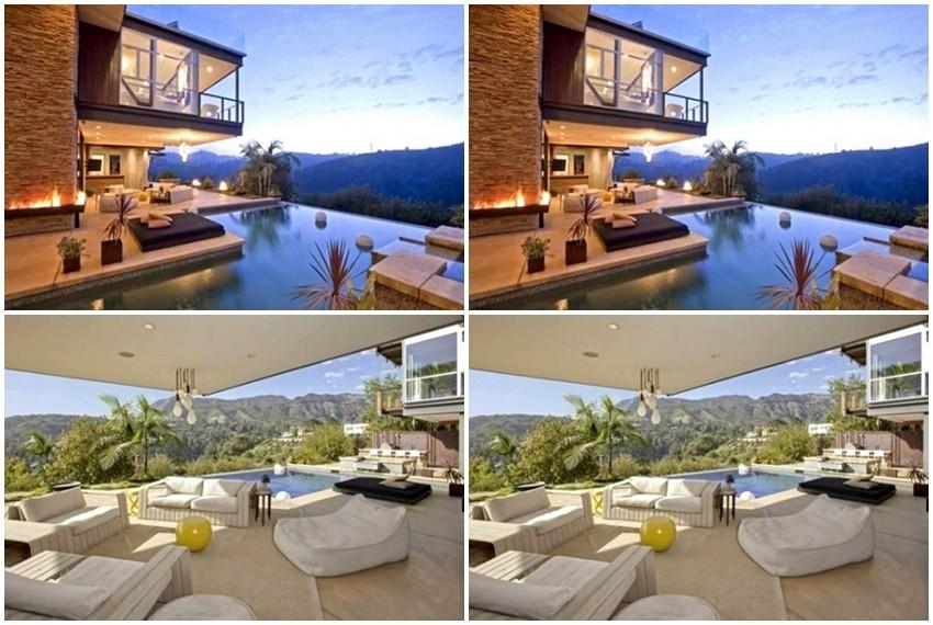 Vila ima prekrasan pogled na brda koja okružuju Hollywood