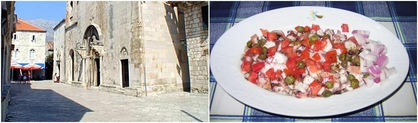 Trg Sv.Marka i hobotnica na salatu restorana Adio Mare