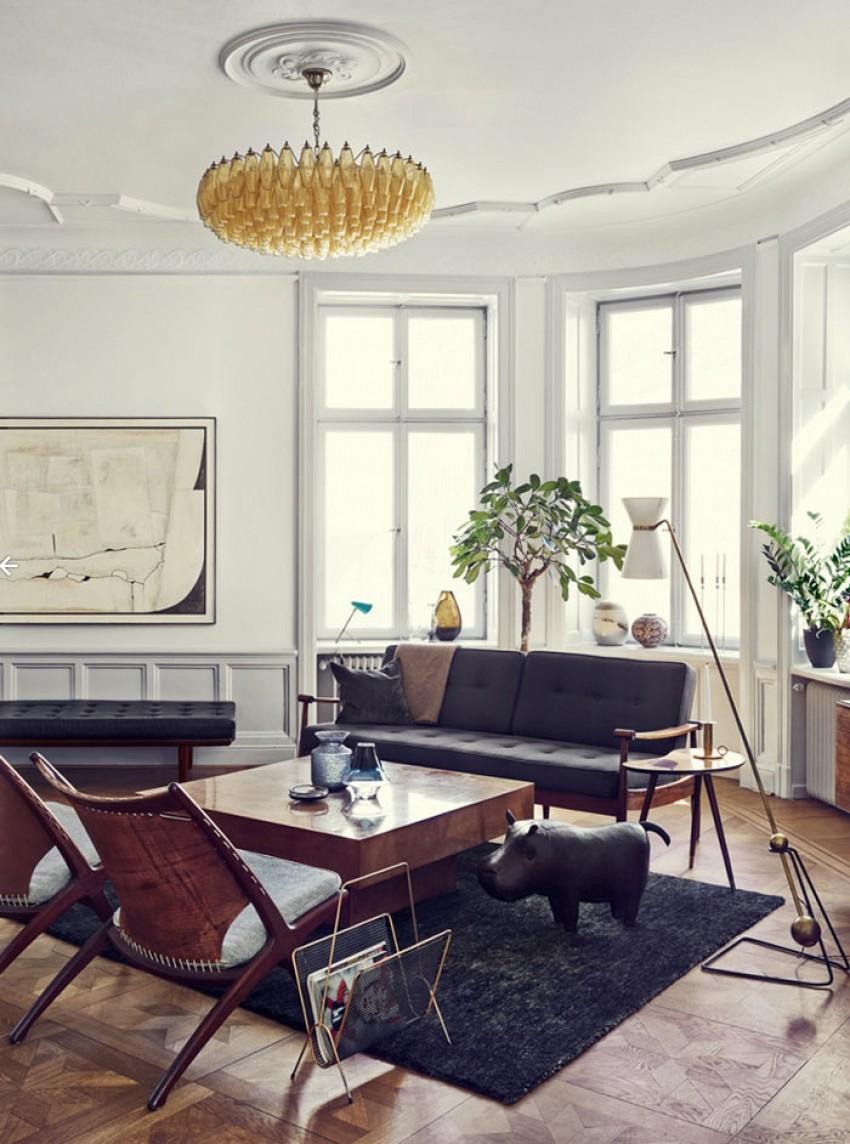 U domu švedske stilistice vješto se kombiniraju moderni i tradicionalni elementi