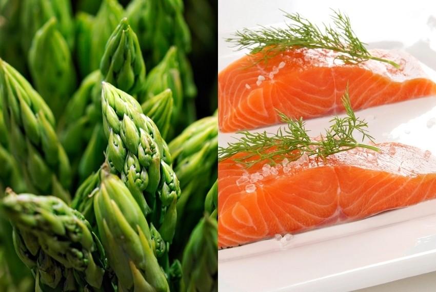 Šparoge i divlji losos bogati su vitaminima i snažni su antioksidansi
