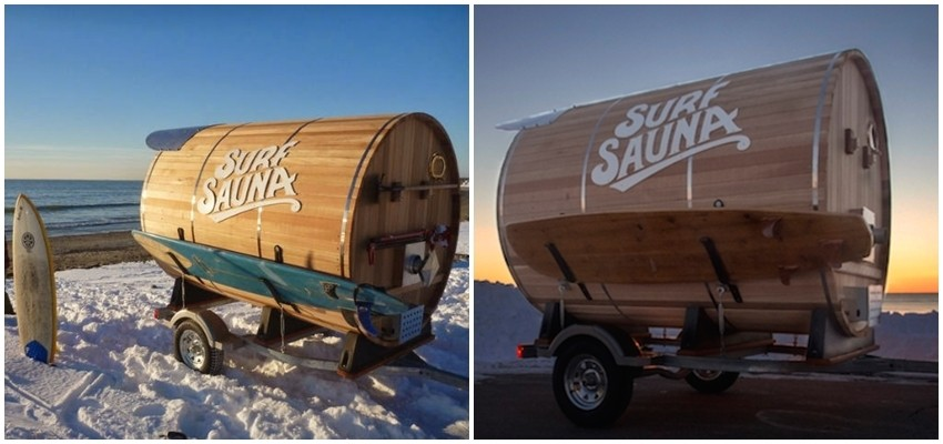 Raj za surfere: Prikolica-sauna za vaš auto
