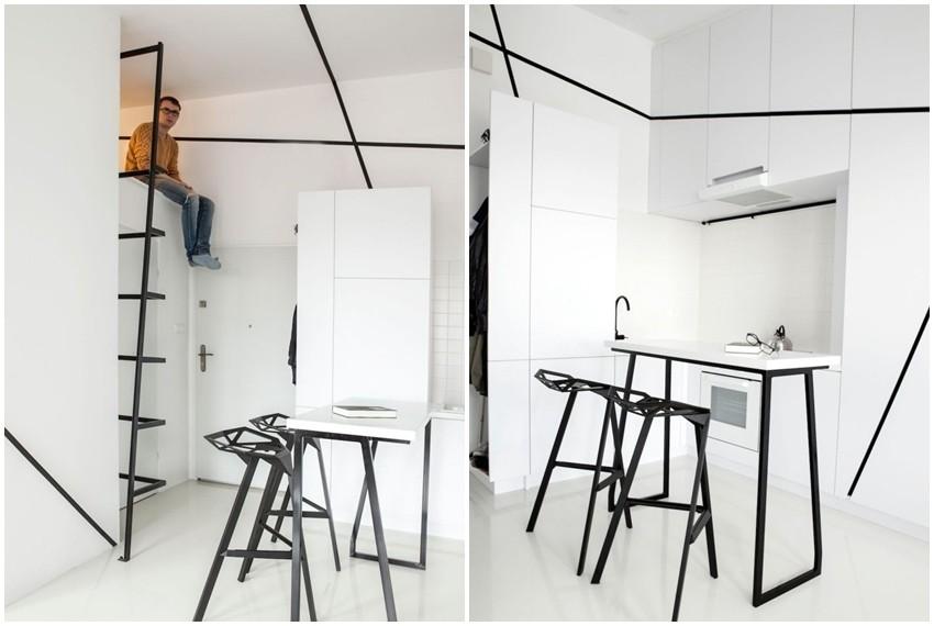 Vrhunac minimalisičkog uređenja u vrlo malom prostoru