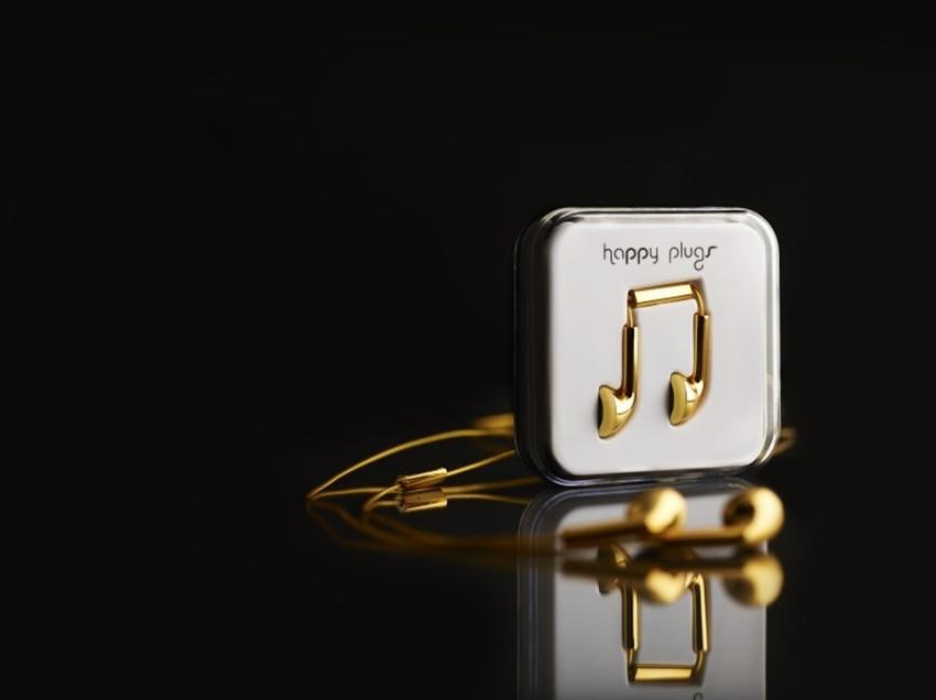 Najljepše male slušalice na svijetu: Zlatne Happy Plugs