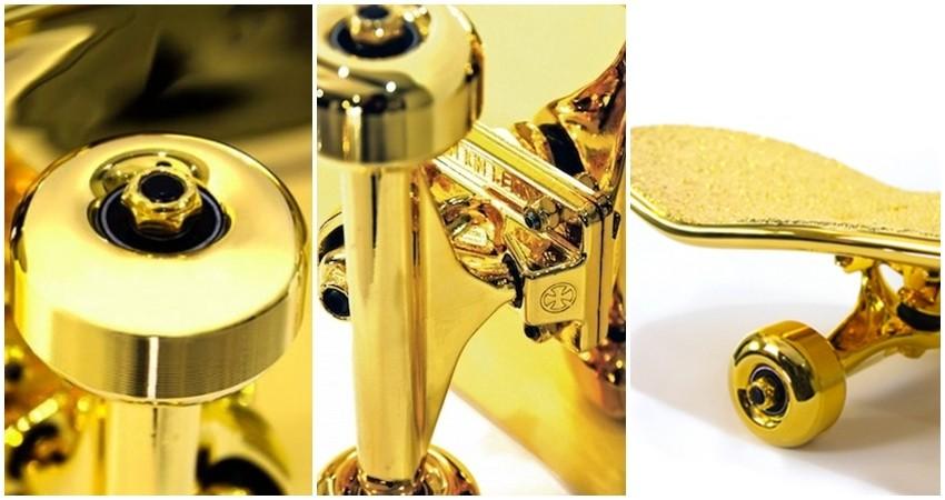 Predstavljamo vam skateboard od čistog zlata