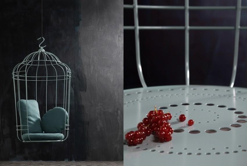 Cageling, viseća stolica - krletka za uređenje doma