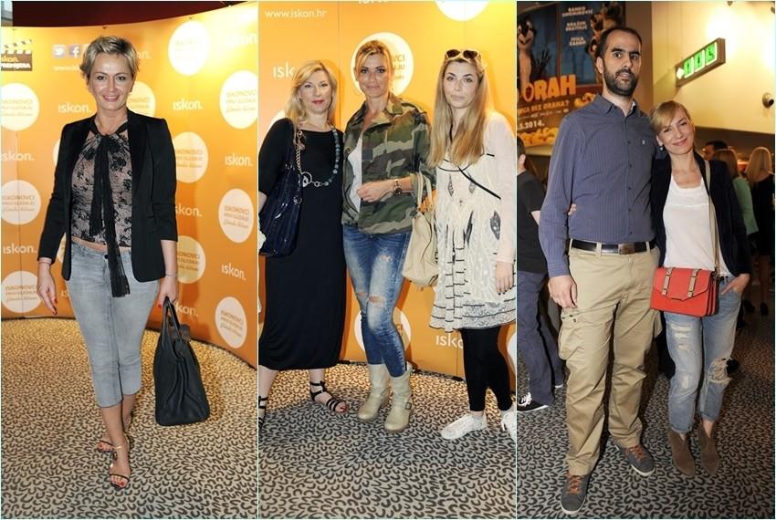 Marija Cvitanović, Suzy i Sarah Josipović, Vanja Mamić i Daria Lorenci na premijeri filma Dva lica siječnja