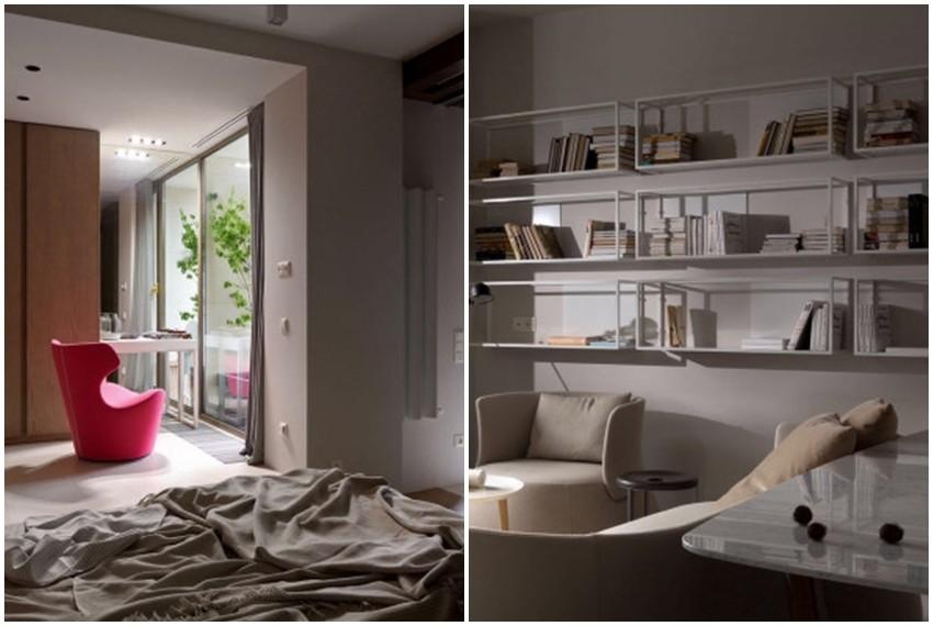 Za jedinstveni koncept stana zaslužna je ukrajinska dizajnerica interijera Olga Akulova