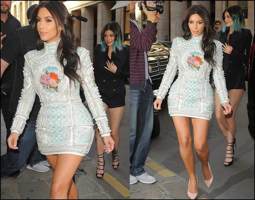 Kim Kardashian je zasjala u Balmain couture haljini