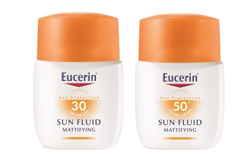 Eucerin matirajući fluid za lice za zaštitu od sunca, SPF 30 i SPF 50+, 50ml