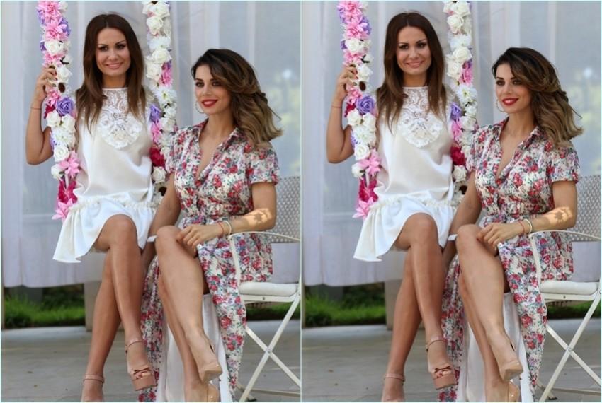 Monika Sablić i Anna Sedokova na snimanju Monikine kampanje
