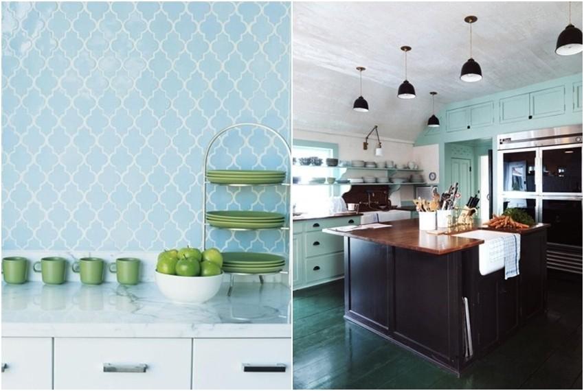Najljepše kuhinje u kojima se kombiniraju zelena i plava boja