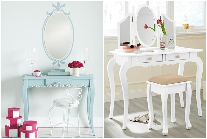 Obožavamo ukrasne stolove za šminku u retro vintage stilu