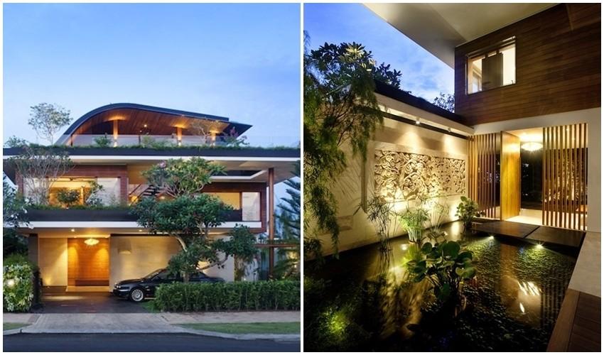 Predstavljamo vam prekrasnu kuću s vrtom na balkonu i krovu