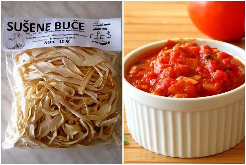 Sušena buča je izvrsna niskokalorična  zamjena za tjesteninu pa se odlično uklapa u sva jela koja se inače rade s njom