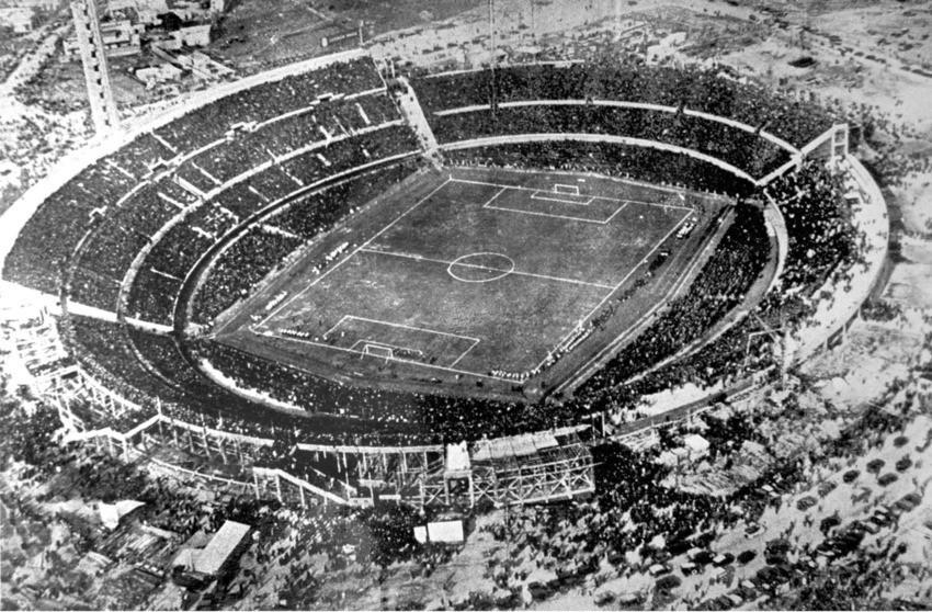 Pogled na stadion Montevideo u Urugvaju iz zraka.