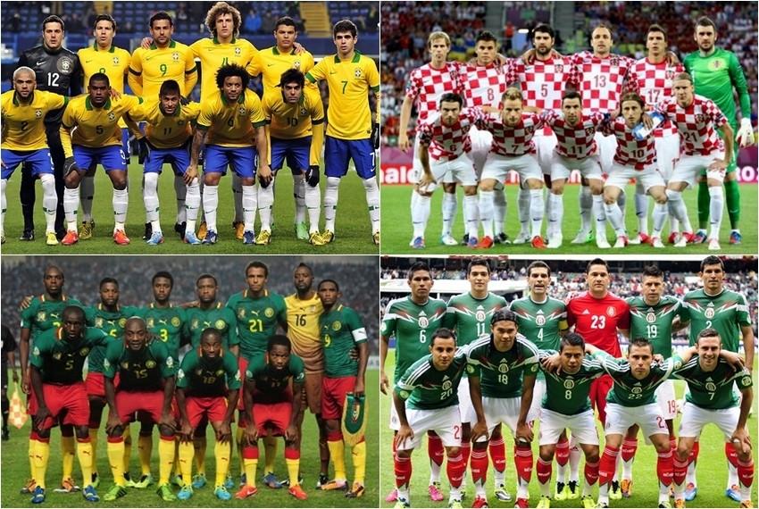 Svjetsko nogometno prvenstvo, Brazil 2014, Skupina A