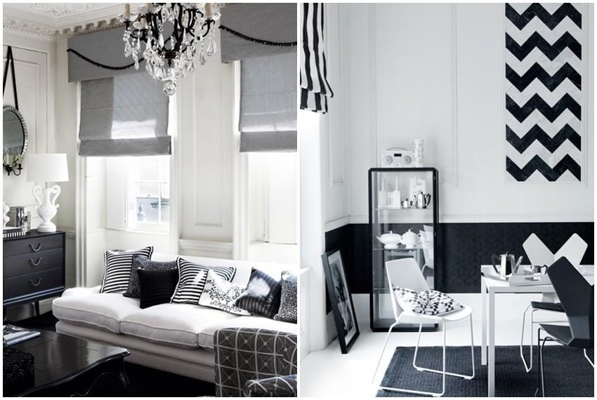 Najljepše crno-bijele kombinacije u interijerima