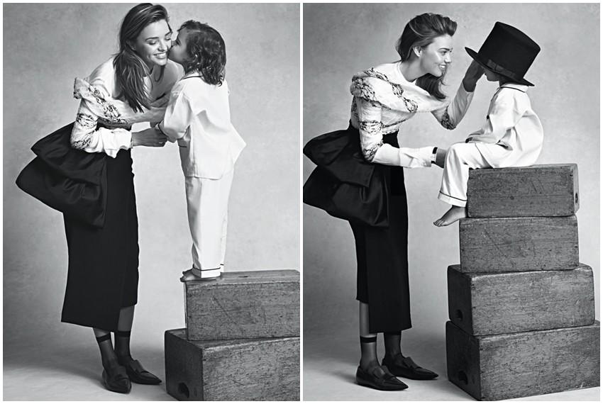 Miranda i sinčić Flynn u editorijalu za Vogue Australia