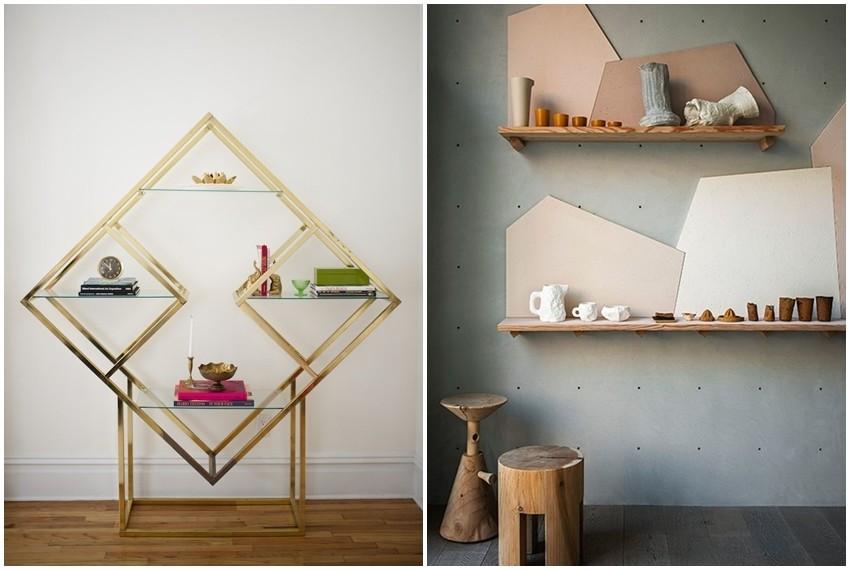 Geometrijske police su funkcionalno i trendy rješenje za manjak prostora