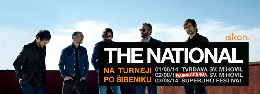 U Šibeniku će se održati još jeda privatan koncert The Nationala