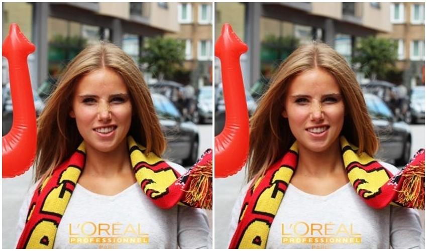 Belgijska navijačica dobila ugovor s L'Orealom