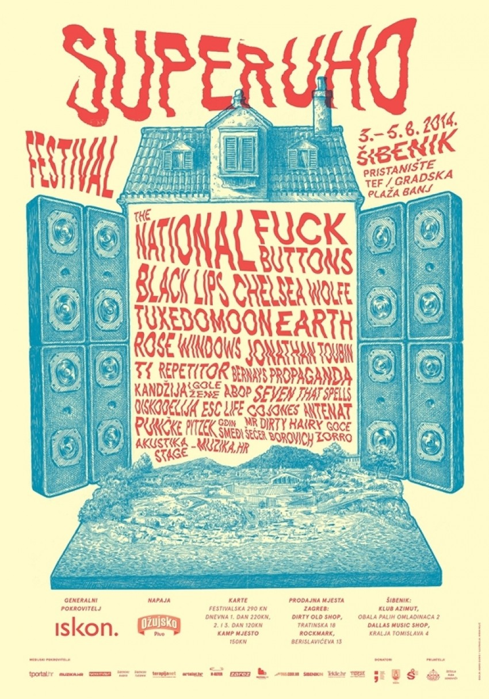 Prvo izdanje festivala SuperUho orijentiranog na aktualnu međunarodnu glazbenu scenu održat će se od 3. do 5. kolovoza u Šibeniku.