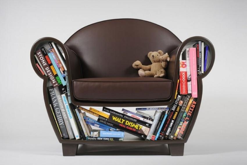 Fotelja i komoda za knjige u jednom