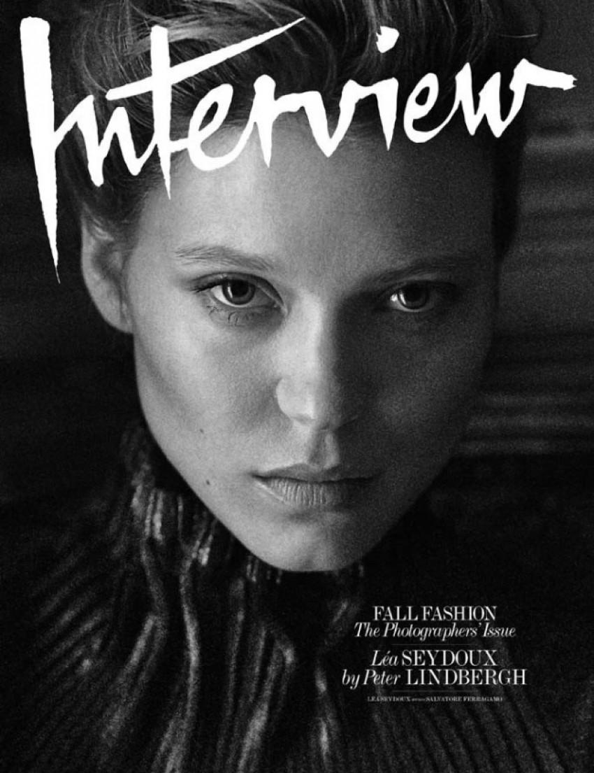 Lea Seydoux ispred objektiva Peter Lindbergha za rujansko izdanje magazina Interview 2014