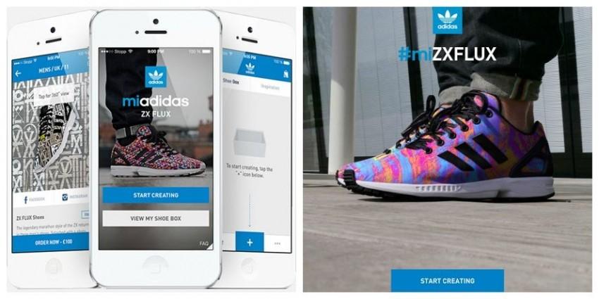 Adidasova Mi ZX Flux aplikacija