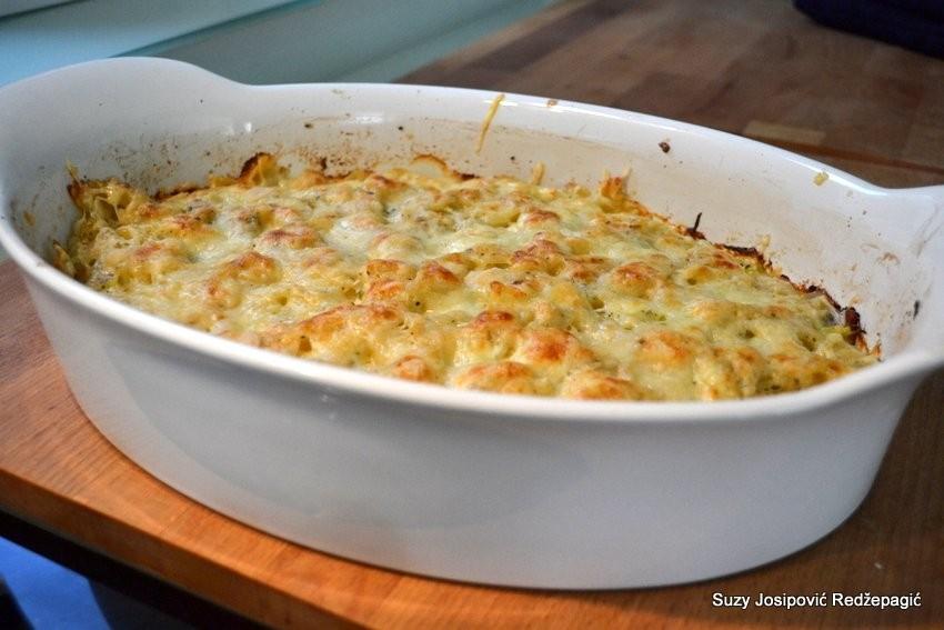 Zapečena tjestenina sa šunkom, sirom i tikvicama