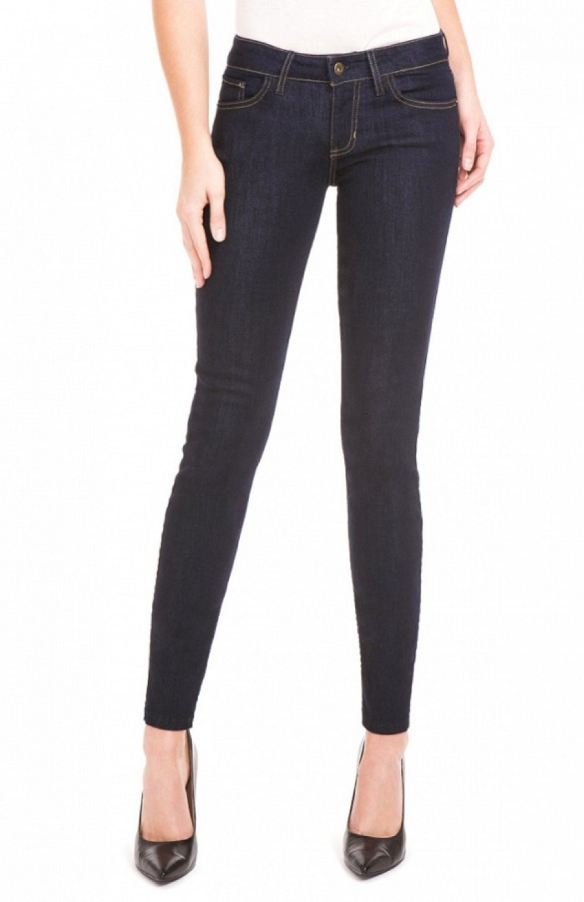 Guess Power Skinny Low-Rise Denim Leggings ($79) in Silicone Rinse