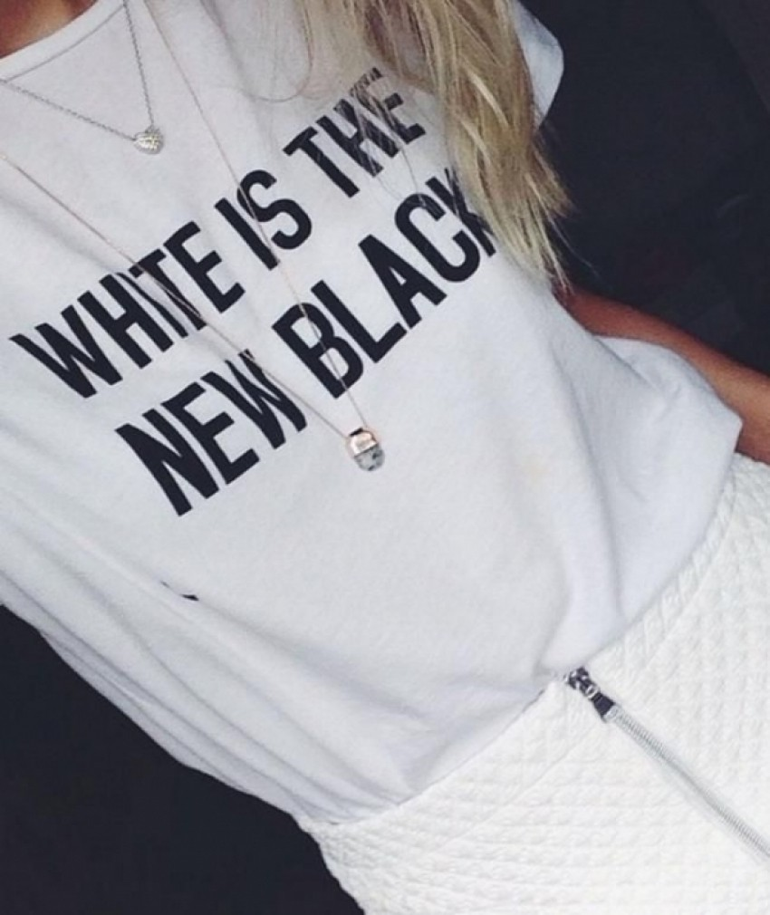 White Is The New Black T-Shirt
