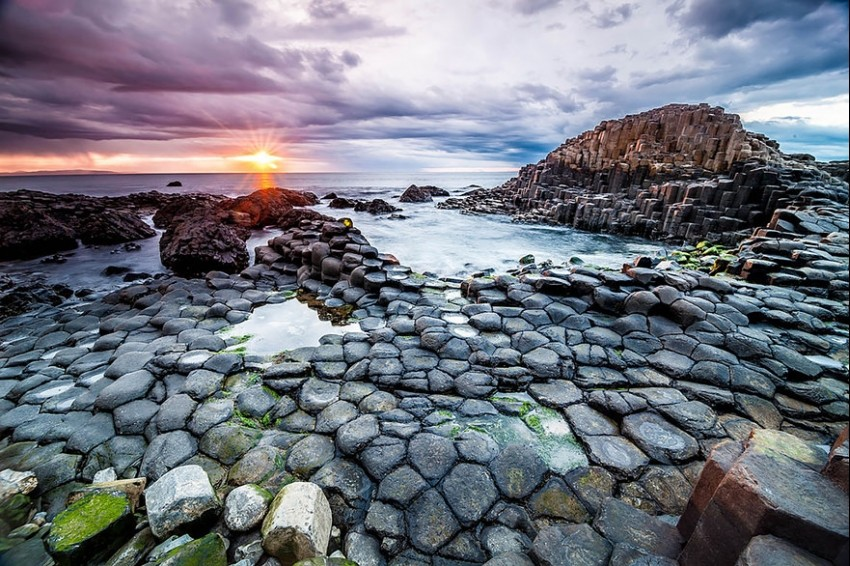 Giants Causeway Beach, Irska